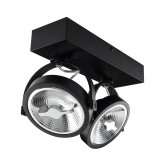 Foco LED cree instalación en superficie orientable AR111 30W Dimable Black